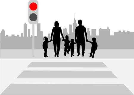 Pedestrian crossing  Иллюстрация