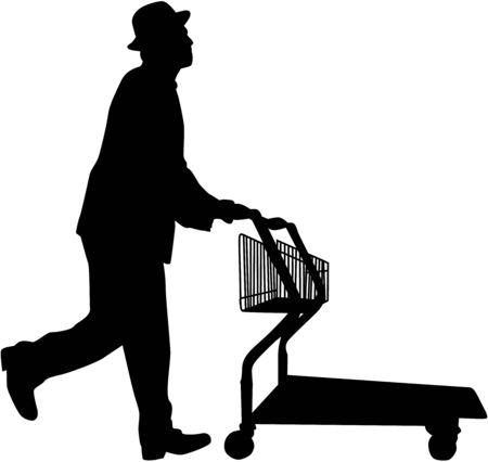 grocer: Man shopping