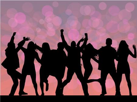 gente bailando: la gente del partido Vectores