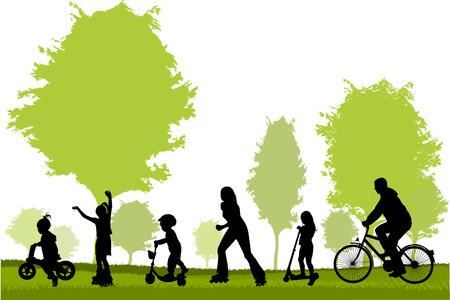Family silhouettes Illusztráció
