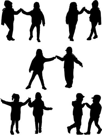 children silhouettes Illustration