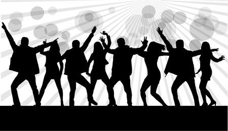 dancer: Dancing silhouettes