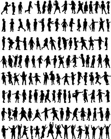 Kinder Silhouetten Standard-Bild - 31361078