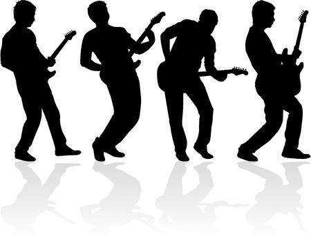 ギター奏者  イラスト・ベクター素材