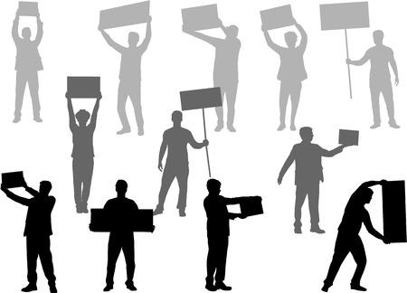 Manifestazione - un gruppo di persone che protestano Archivio Fotografico - 31361333