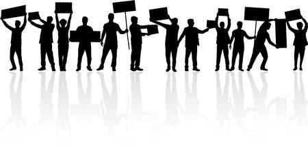 manifest: manifestation - a group of people protesting Illustration