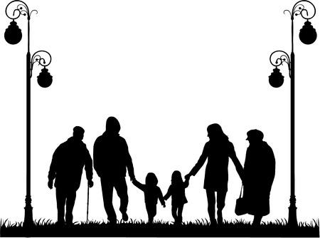Familienschatten Standard-Bild - 31914436