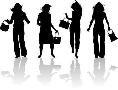 modieuze vrouwen gaan winkelen