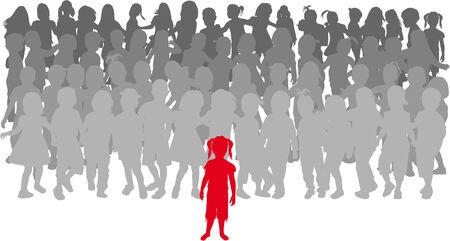 지도자 - 아이들의 그룹.