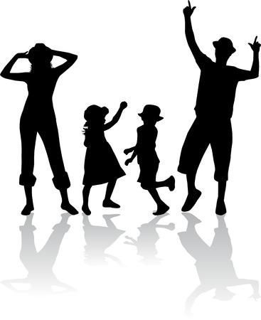 Familienschatten Standard-Bild - 32093595