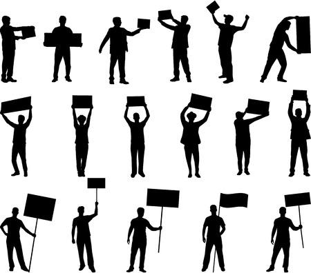 Manifestazione - un gruppo di persone che protestano Archivio Fotografico - 32093485