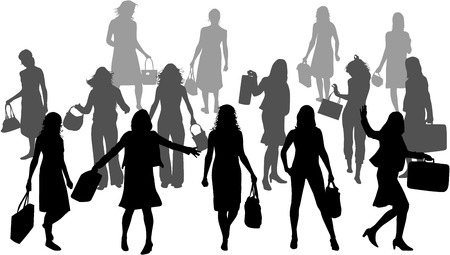 Women silhouettes Vectores