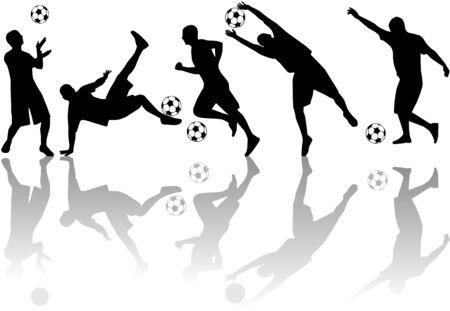Footballer  Vectores