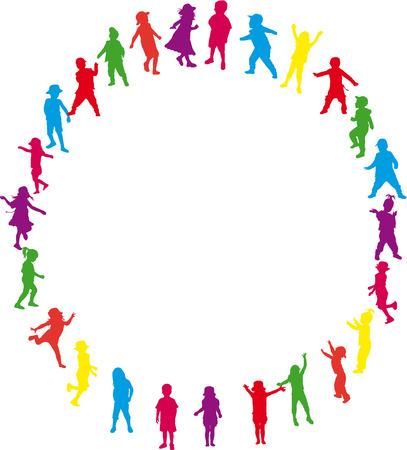 disco dancer: children silhouette