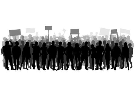 derechos humanos: manifestación Vectores