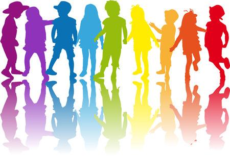 Kinder Silhouette Standard-Bild - 32620797
