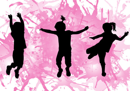 dance shadow: children silhouette