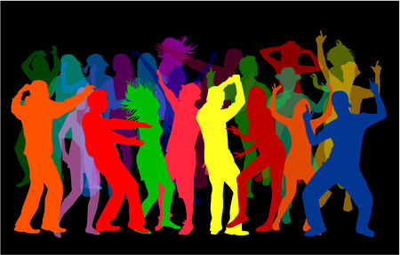 bailarines silueta: Siluetas de baile