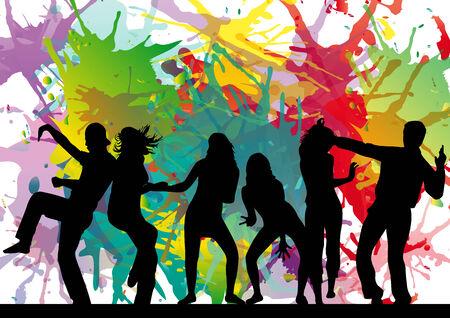dancing girl: Dancing silhouettes