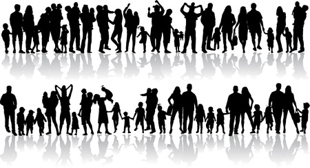 Familienschatten Standard-Bild - 33702882