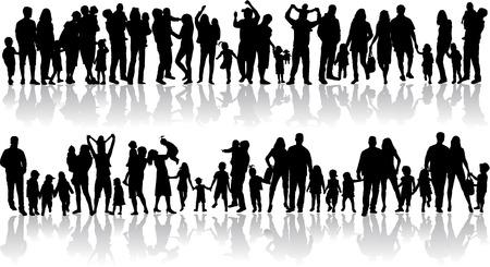 famille: silhouettes de la famille