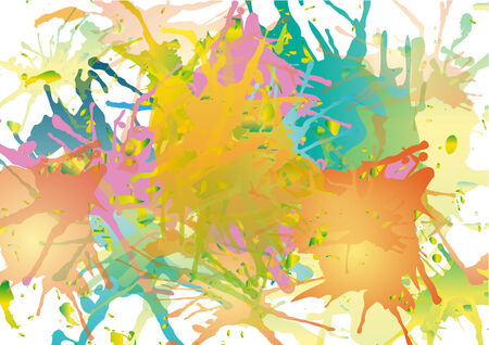 paiting: vector blots background Illustration