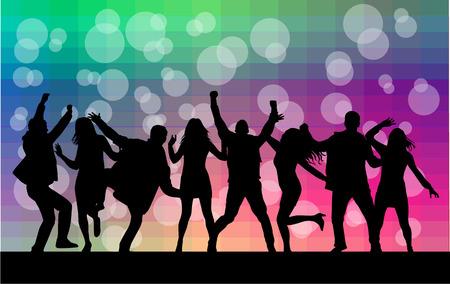 Silhouettes dansantes Banque d'images - 33703226