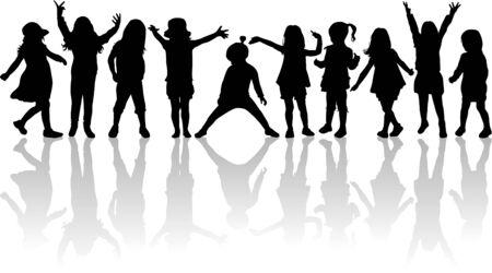 similar images: children silhouettes Illustration