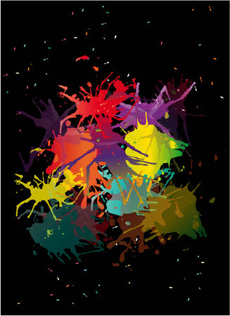 paiting: vector blots background Illustration
