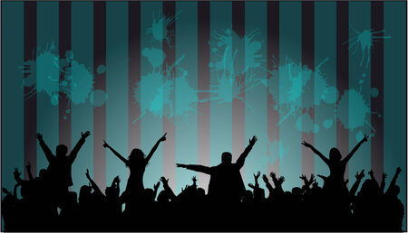 dancing silhouette: Dancing silhouettes