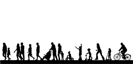 silueta niño: La gente pasar el tiempo activamente Vectores