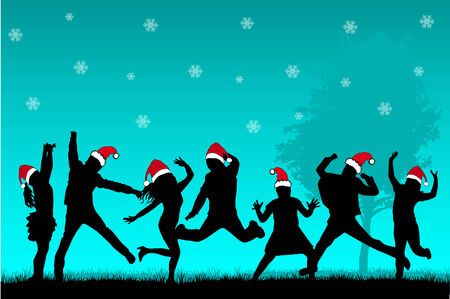 dancing club: Christmas Party Illustration