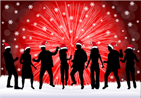 christmas decorations: Christmas Party Illustration