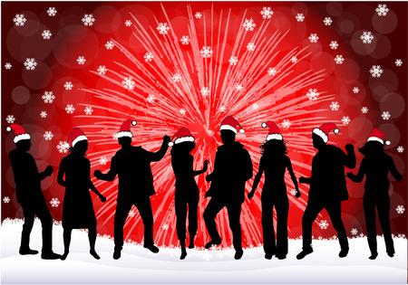 navidad estrellas: Fiesta de Navidad