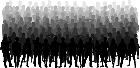 crowd of people: Group of people Illustration