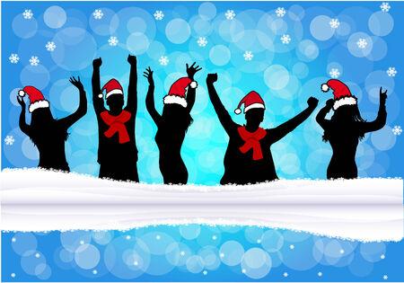 dance shadow: Christmas background