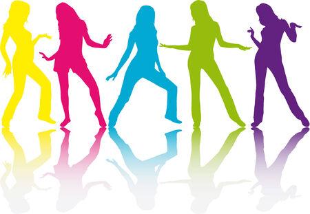 Women silhouettes Ilustração