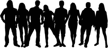 Gruppo di persone Vettoriali
