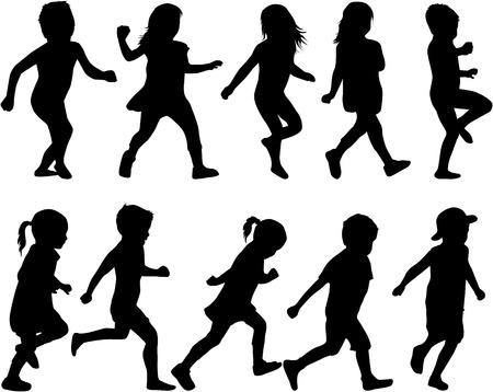 silueta niño: los niños silueta