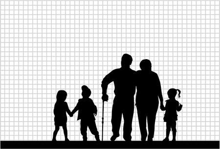 Familienschatten Standard-Bild - 35077753