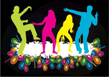 dancing girl: Dancing Silhouette- Illustration Illustration