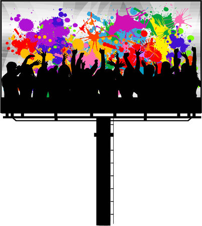 billboard - poster of dancing people Illustration