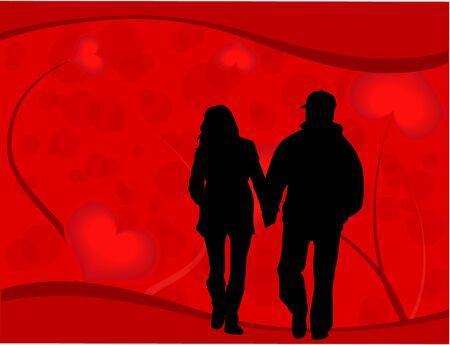 romance: Romance Card Illustration
