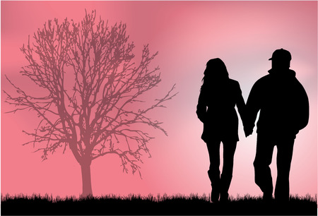 Couple Silhouettes Imagens - 35296686