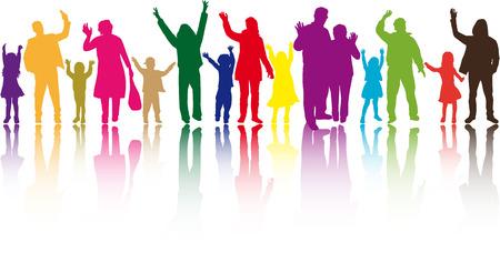 Gruppe von Menschen Standard-Bild - 35296942