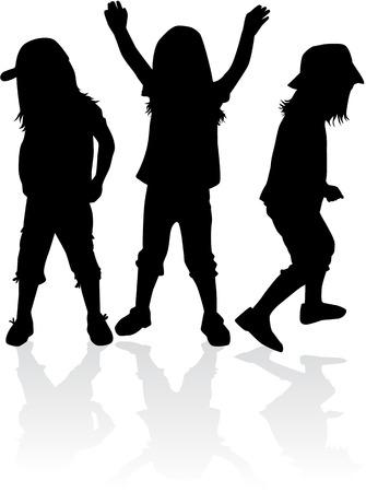 child care: children silhouettes Illustration