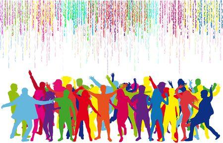ダンス シルエット  イラスト・ベクター素材