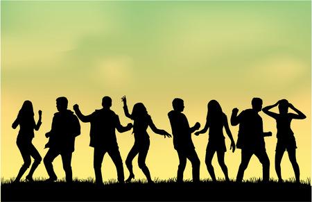 dancing: Dancing silhouettes