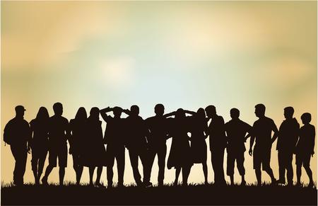 listeners: Group of people Illustration
