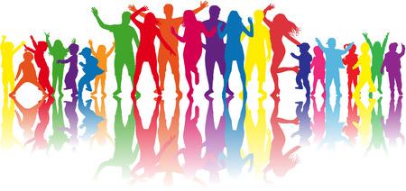Dansende silhouetten Stockfoto - 35297151